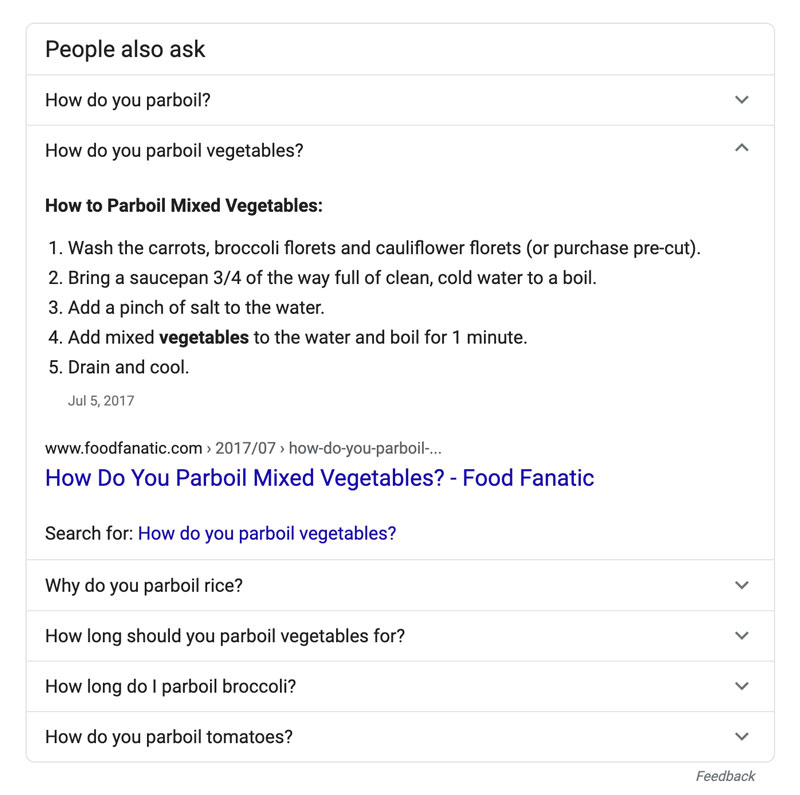 a screenshot of the people always ask section on google