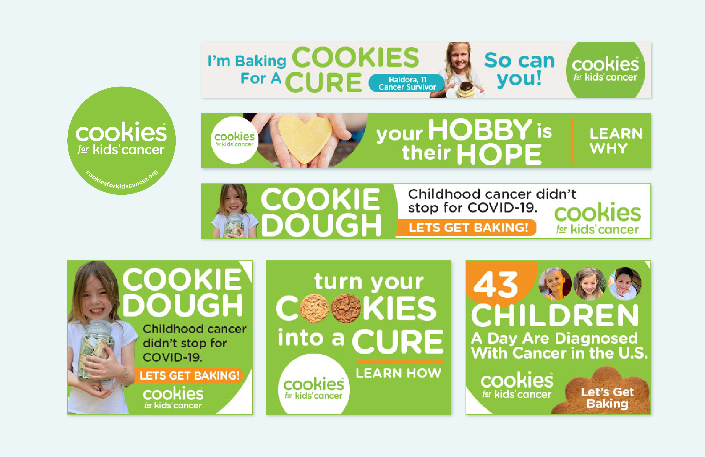 cookies for kids' cancer PSAs at mediavine