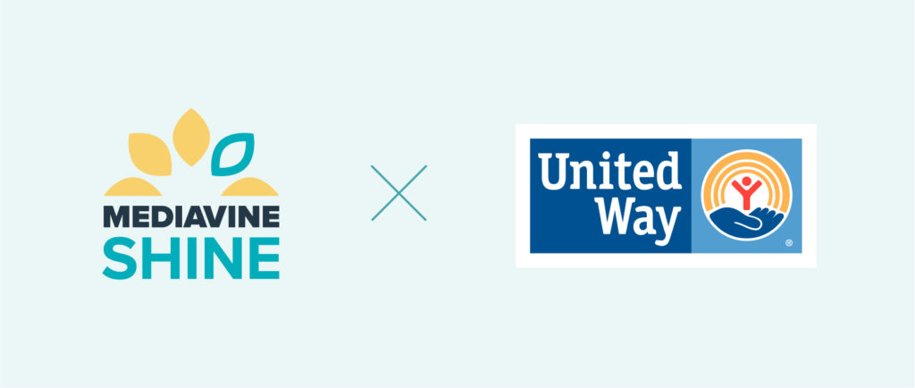 mediavine shine and united way logos
