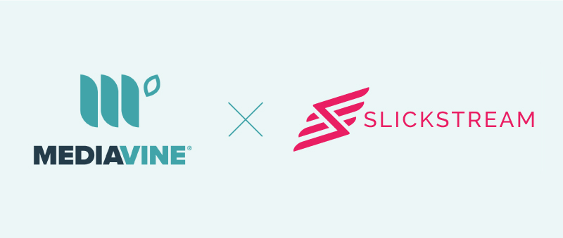 mediavine logo and slickstream logo