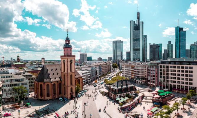 shot of frankfurt germany's cityscape