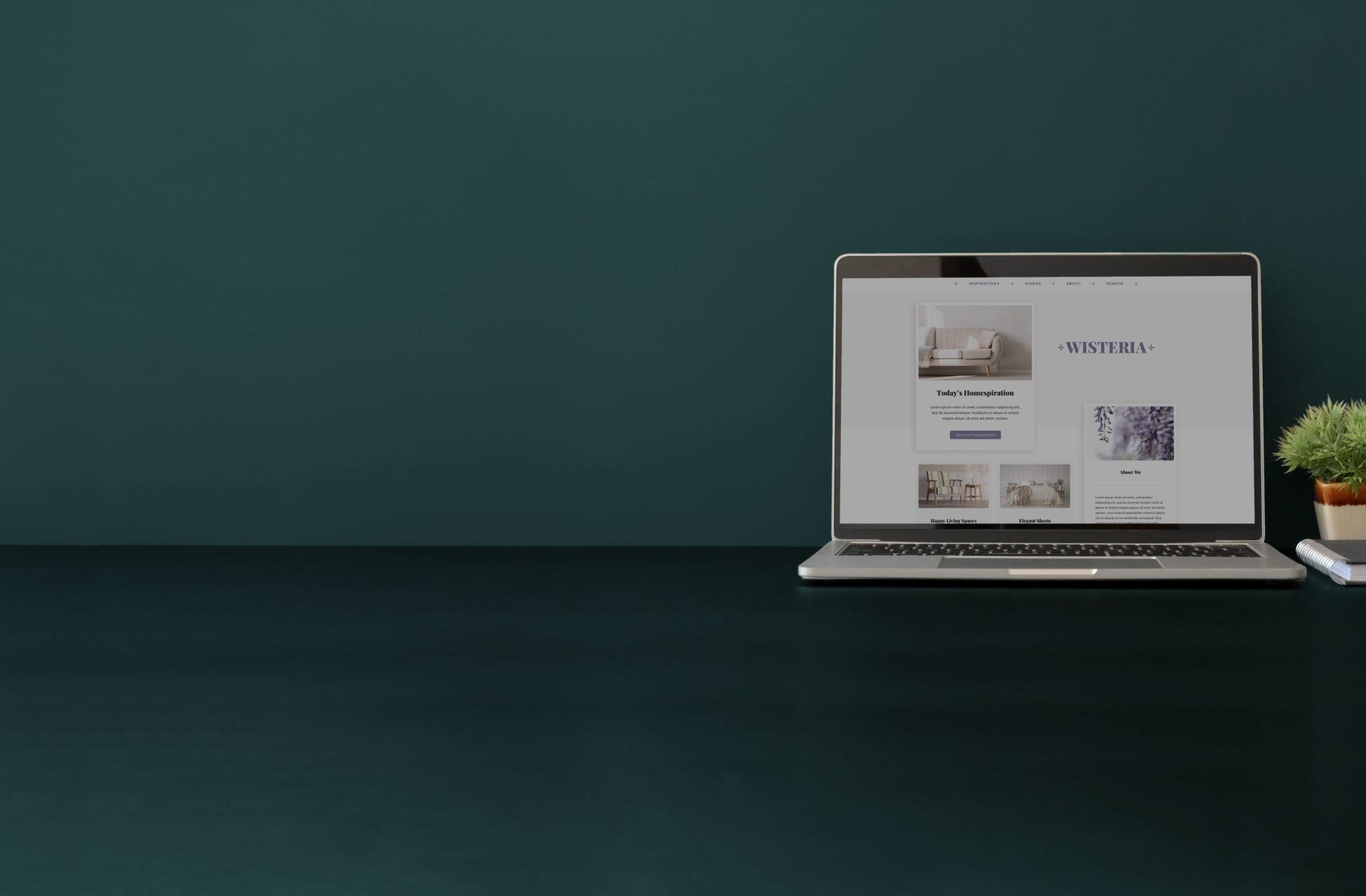 Wisteria screenshot on laptop