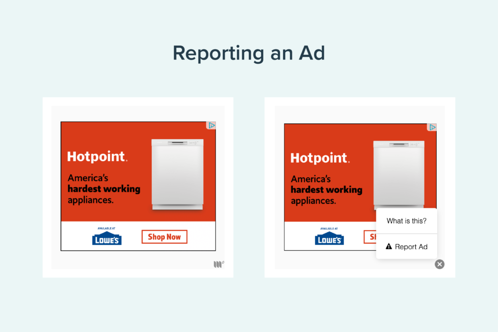reporting an ad graphic